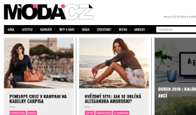 Screenshot webu moda.cz